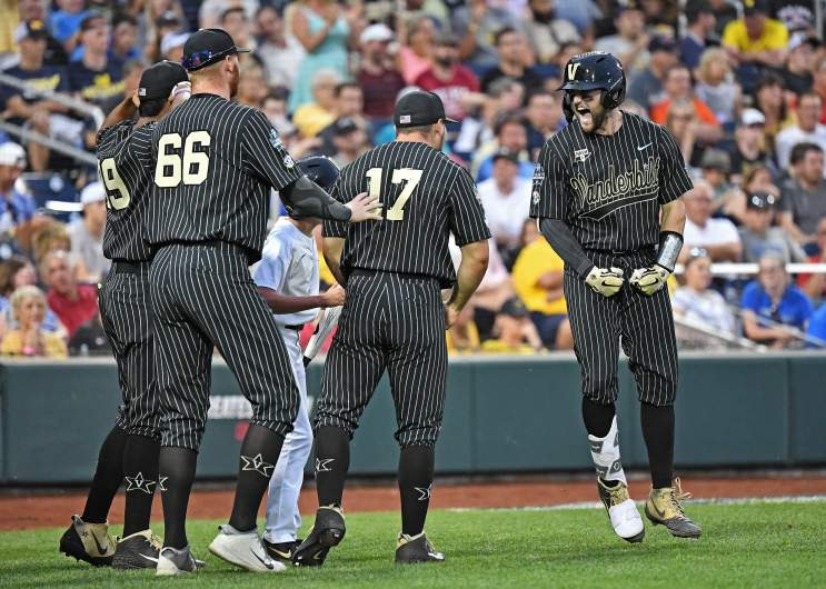 Vanderbilt survived an elimination game on Tuesday, forcing a championship-deciding Game 3 of the College World Series with Michigan on Wednesday night.