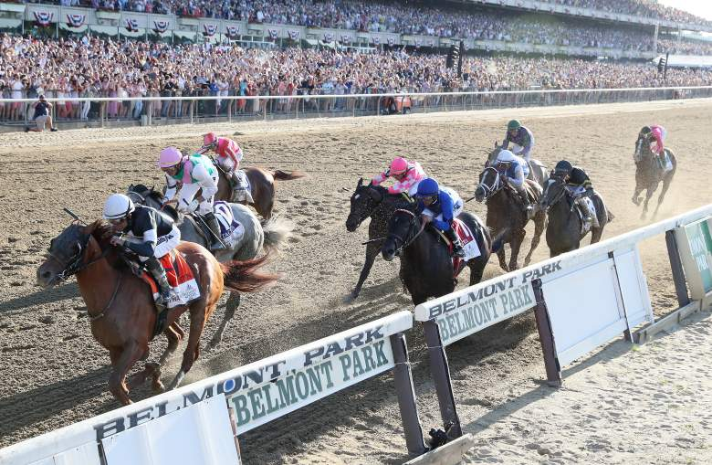 Sir Winston held off race favorite Tacitus to win the 151st running of the Belmont Stakes on Saturday.