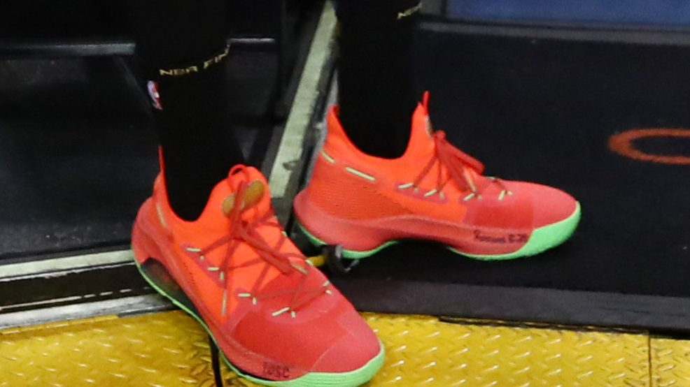 Steph Curry's Orange Shoes at NBA