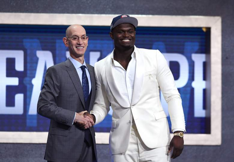 Zion Williamson was officially welcomed into the NBA on Thursday night when the New Orleans Pelicans selected him number one overall in the NBA Draft.
