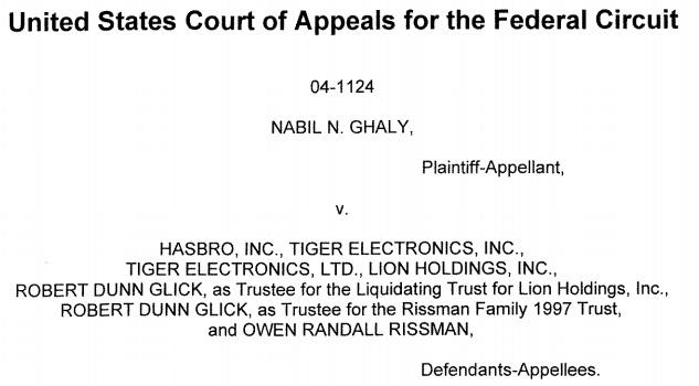 ghaly hasbro lawsuit