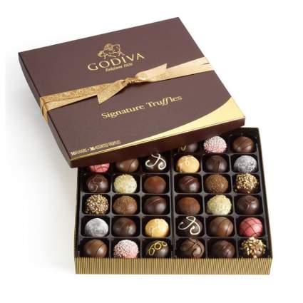 box of godiva chocolate truffles