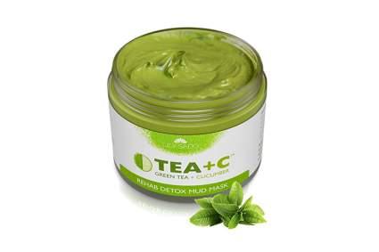 green tea and cucumber mud mask