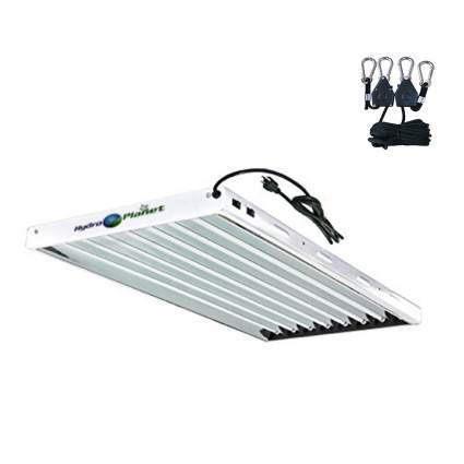 Hydroplanet T5 4ft 8lamp Fluorescent Ho Bulbs Included