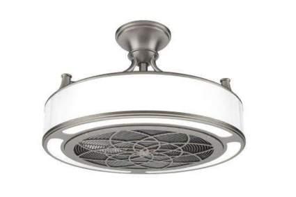 brushed nickel indoor outdoor ceiling fan