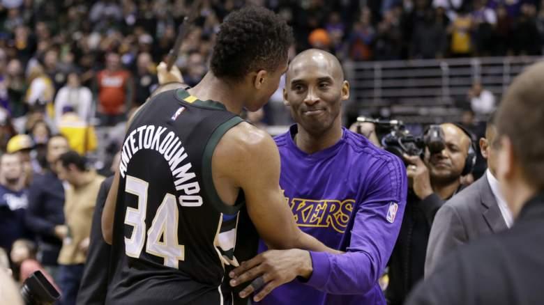 Kobe Bryant and Giannis Antetokounmpo