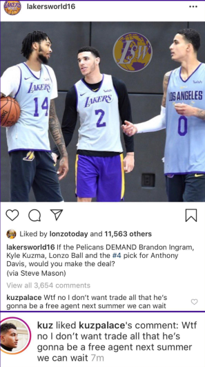 Kyle Kuzma Anthony Davis Trade