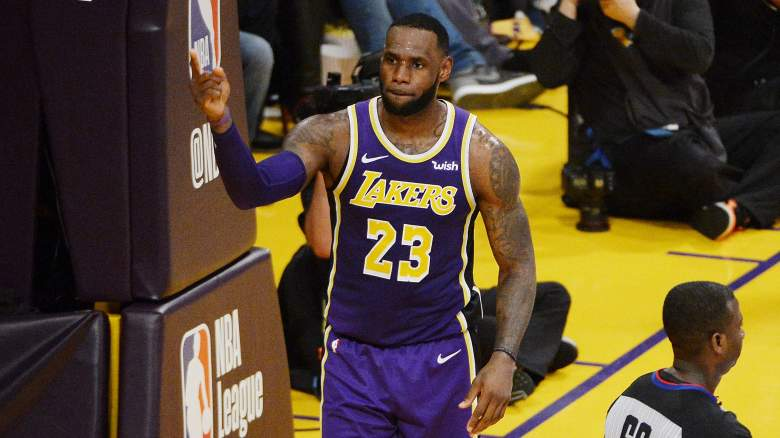 LeBron James jersey number Lakers
