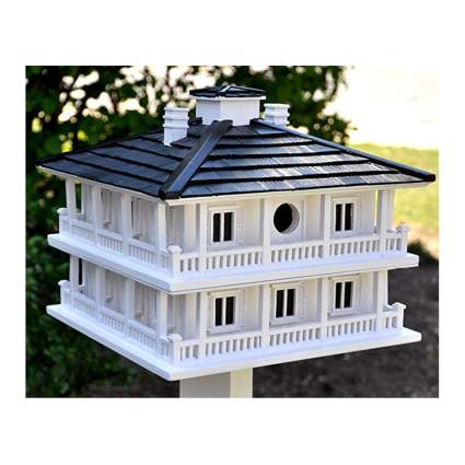 large white outdoor birdhouse