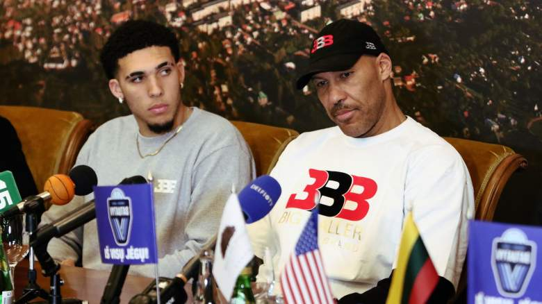 Lavar and Liangelo Ball Lakers Promise