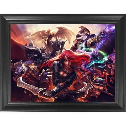 League of Legends Framed 3D Poster Wall Art