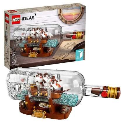 LEGO Ideas Ship in a Bottle 21313 Expert Building Kit