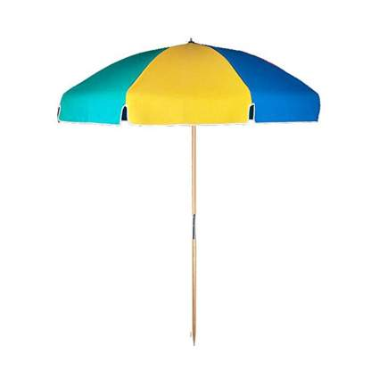 multicolor beach umbrella