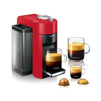 red espresso and coffee machine
