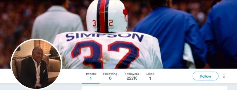 OJ Simpson Twitter