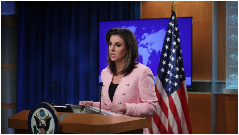 Ortagus at a state dept briefing