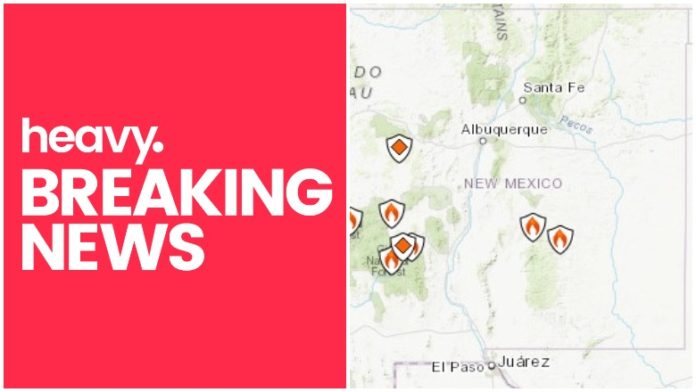 Fires In New Mexico Map New Mexico Fire Map: Track Fires Near Me Right Now | Heavy.com