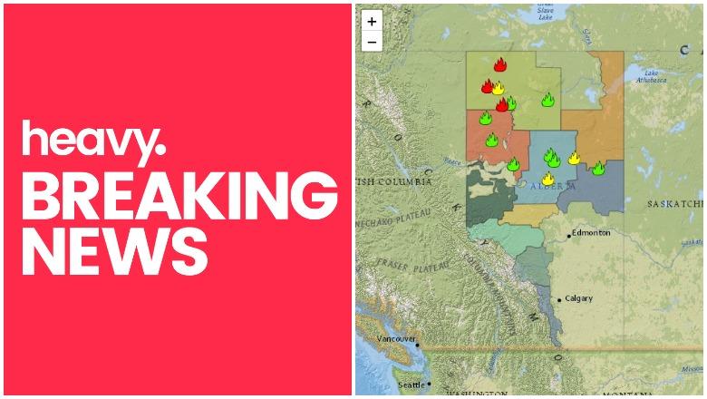 Alberta Canada Fire Map Alberta Fire Map: Track Fires & Updates Near Me in Canada | Heavy.com