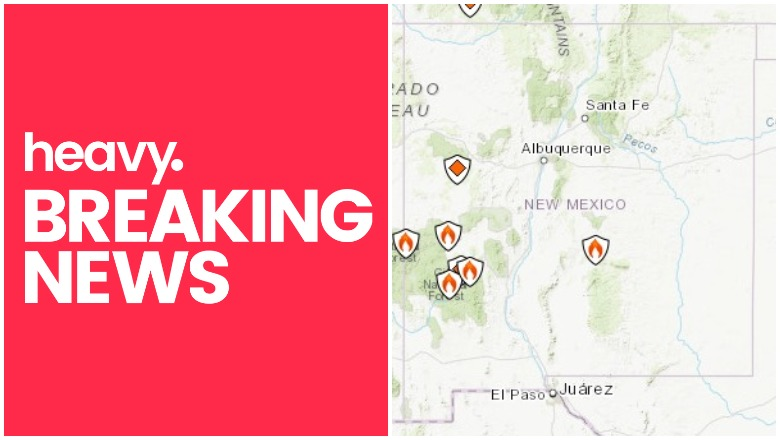 Fires In New Mexico Map New Mexico Fire Map: List of Fires Near Me Right Now | Heavy.com