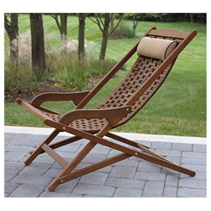 plantation teak sling chair