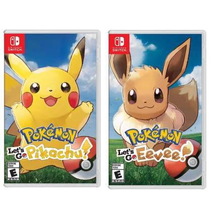 Pokemon Let's Go Pikachu or Eevee