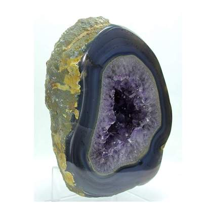 polished amethyst crystal geode