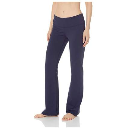 plum boot leg yoga pants