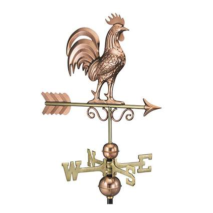 pure copper bantam rooster weathervane