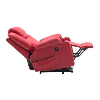 red faux leather heated massage lift recliner