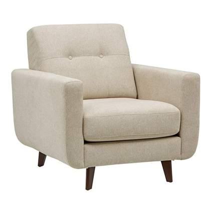 off white mid century modern chair