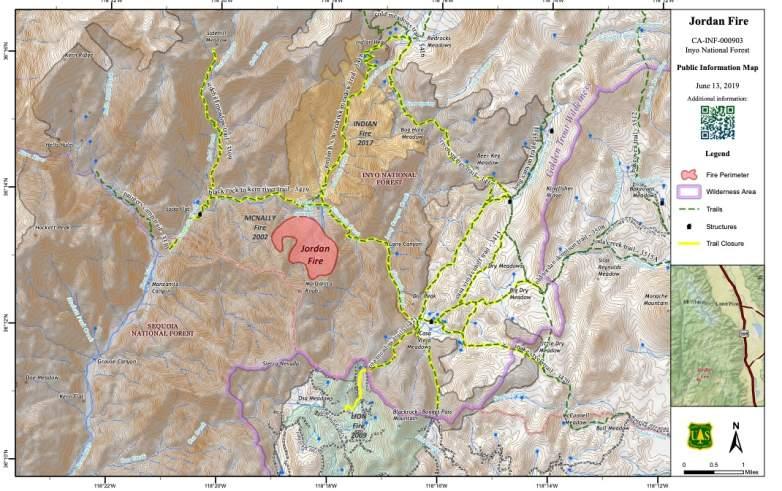 Jordan Fire Map