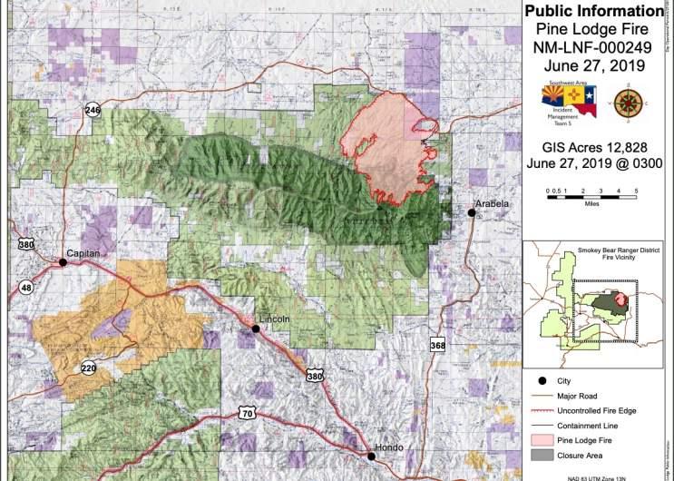 Pine Lodge Fire Map