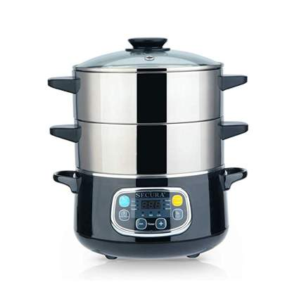 two tiered electric food steamer