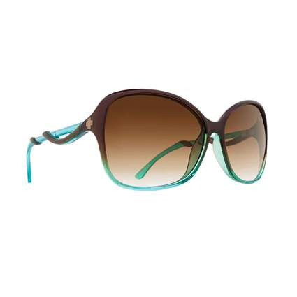 green women's sunglasses with brown lenses