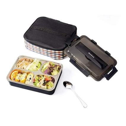 stainless steel bento box with insulated lunch bag