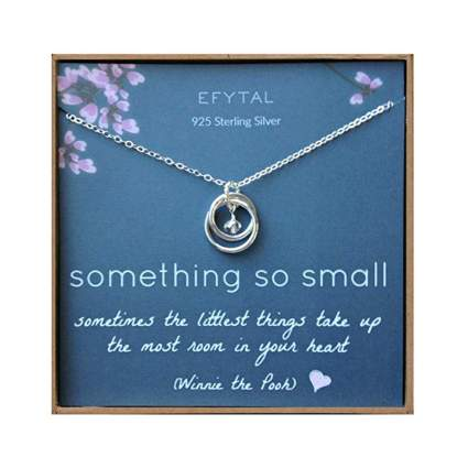 sterling silver new mom necklace