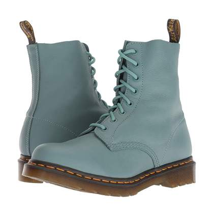 teal women's combat boots