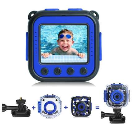 [Upgraded] PROGRACE Kids Waterproof Camera Action Video Digital Camera