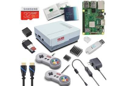V-Kits Raspberry Pi 3 Model B+ (B Plus) Retro Arcade Gaming Kit with 2 Classic USB Gamepads
