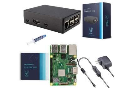 V-Kits Raspberry Pi 3 Model B+ (Plus) Basic Starter Kit with Aluminum Alloy Pi Cooling Case