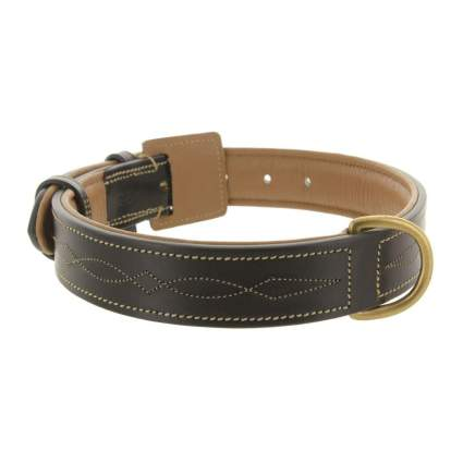 viosi embroidered leather luxury dog collar