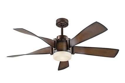 walnut and bronze five blade ceiling fan