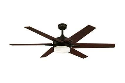 six blade oiled bronze ceiling fan
