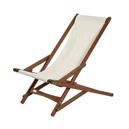 wood and canvas folding camp chair