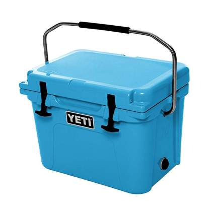 blue rotomolded cooler