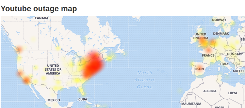 Massive Widespread Google Outages Cloud Youtube Gmail Snapchat Down In Parts Of Us Europe Heavy Com