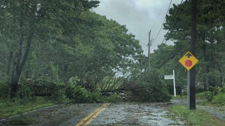 Cape Cod tornado damage