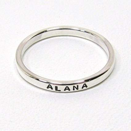 Personalized Sterling Silver Stacking Ring