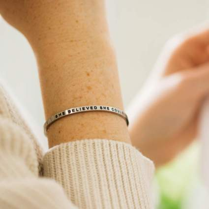MantraBand Bracelet - She Believed She Could, So She Did