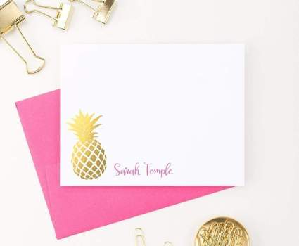 Pineapple Personalized Stationery Set